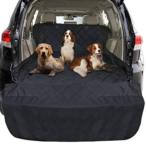 Cargo Foldable Area - FunniPets Cargo Liner for Dogs SUV, Large Size Universal Fit, Waterproof, Non-Slip Backing, Protective Bumper Flap