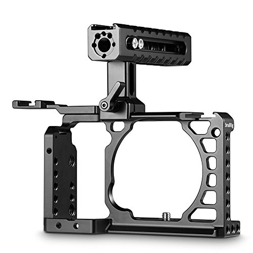 SmallRig Advanced Cage Kit for Sony A6500 2081 with NATO Rail Handle and Cold Shoe Mount Handheld Shooting Kit