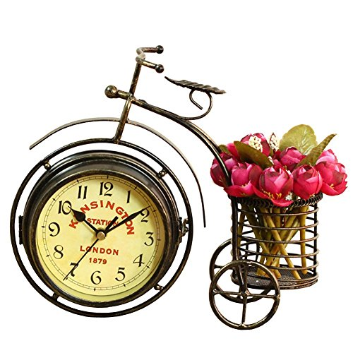 NEOTEND Handmade Vintage Bicycle Clock product image