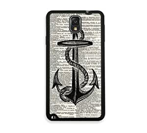 Shawnex Nautical Anchor on Dictionary Page Samsung Galaxy Note 3 Case - Fits Samsung Galaxy Note 3 Note III