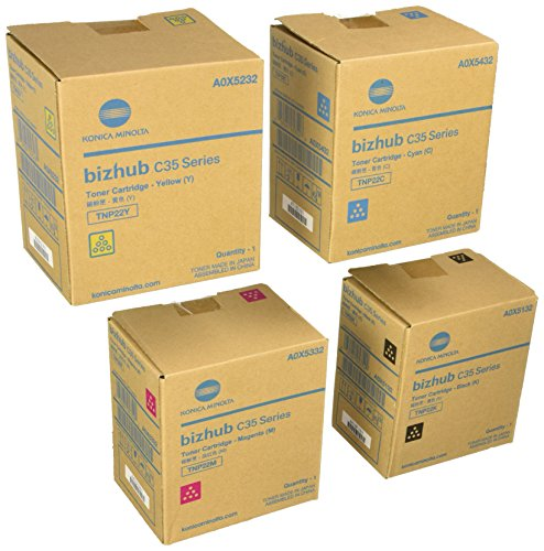 Konica Minolta BizHub C35 - Toner Cartridges (Black, Cyan, Magenta, Yellow) by Konica Minolta bizhub Color
