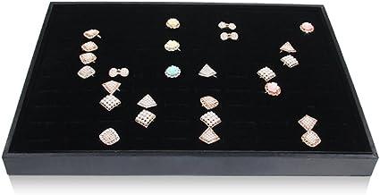 BOCAR Velours Noir Pr/ésentoir /à Bijoux Showcase Organiseur Support pour Collier Bracelet Bague Boucles DOreilles