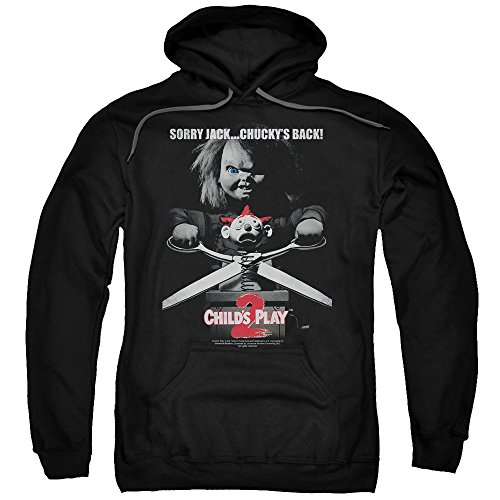 Child's Play 2 Horror Thriller Movie Chuckie Jack Poster Adult Pull-Over Hoodie for $<!--$44.95-->