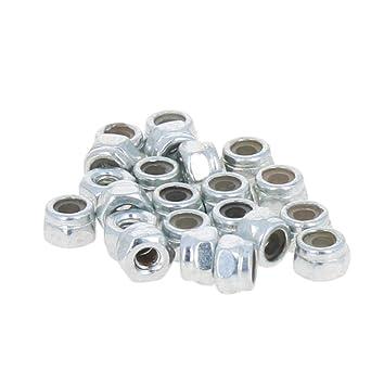 Carbon Steel Nylon Insert Lock Nut Nylock Hex Nuts Finish Nickel Or Zinc Plated