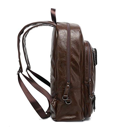 Bolsos de hombro de ocio/Mochilas de los hombres/Mochilas de los estudiantes coreanos/Bolsa de deporte de moda/bolso del hombre de la computadora de viaje-A B