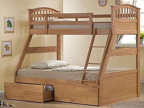 Sweet Triple cama litera cama incluye espuma de memoria colchones & cama cajones – Arce