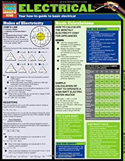 Quick card electrical blueprint symbolsfull color 4 page electrical tri fold laminated chart malvernweather Choice Image