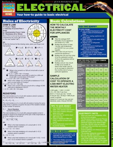 electrical-tri-fold-laminated-chart