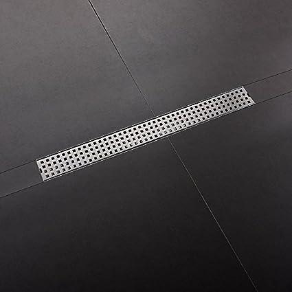 243648 Linear Shower Drain Bathroom Tile Floor Drain Stainless