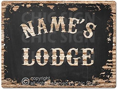 Amazon.com: Nombre de Lodge personalizado signo de estaño ...