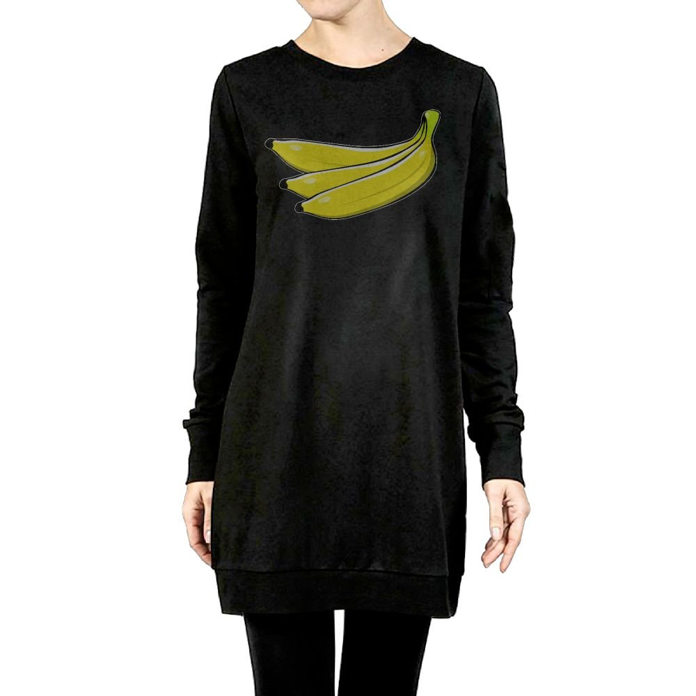 Beauty/&Fashions Banana Printing Ladies Cotton Fleeces Popular Long-Sleeves Jumper greatcoat