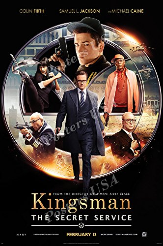"Posters USA - Kingsman The Secret Service Movie Poster GLOSSY FINISH - MOV561 (24"" x 36"" (61cm x 91.5cm))"