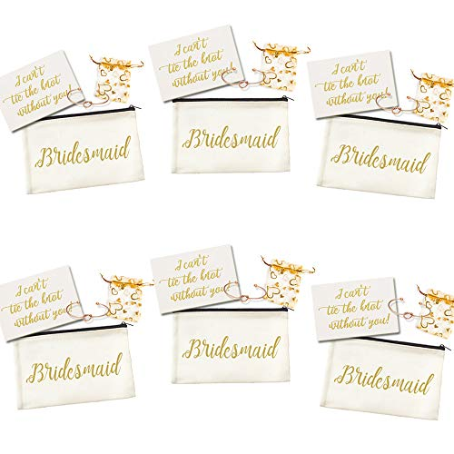 Ibride Bridesmaid Gifts Makeup Bag Set of 6]()