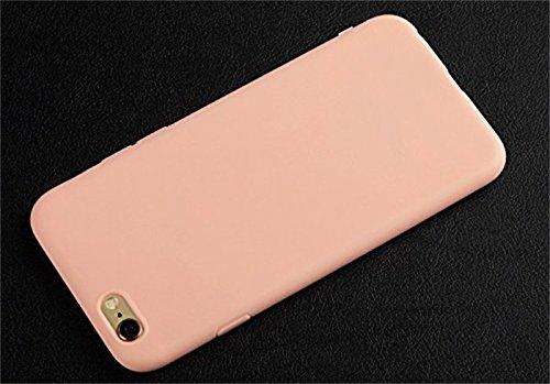 Da.Wa Cubierta de la Caja de Freedi Para el iPhone 6 6S Silicona Suave de TPU Scrub el Caso Ultra Fino de la Cubierta del Teléfono Rosado