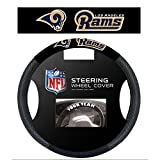 NFL Los Angeles Rams Poly Suede Steering Wheel Cover, One Size, Navy