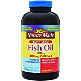 Nature Made Fish Oil 1000mg, Omega 3 300mg, Burp-Less Softgel , 320 Count