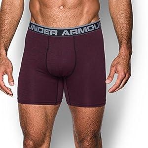 Under Armour Men's Original Series Twist Boxerjock, Maroon/Steel, Medium