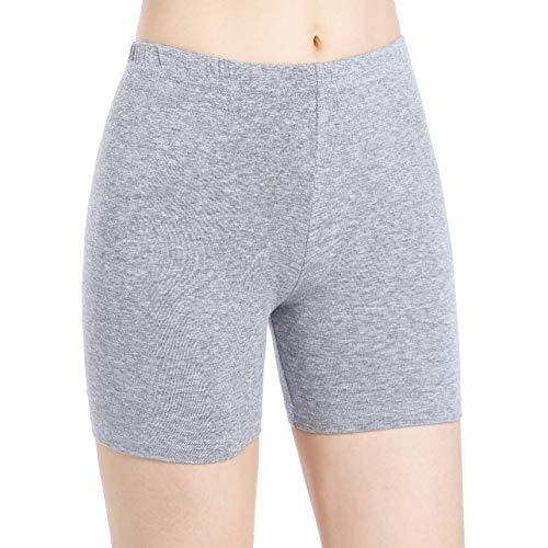 Skirts Cotton Silk Smocked Dress - Ferrieswheel Story Short Leggings for Women Under Dress Pants Above Length Slips Shorts Ultra Soft Grey