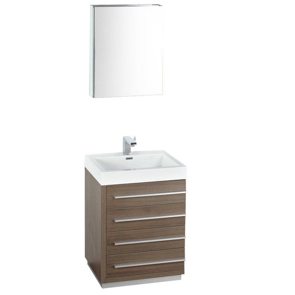 Fresca FVN8024GO-FFT1046BN Livello Modern Bathroom Vanity with ...