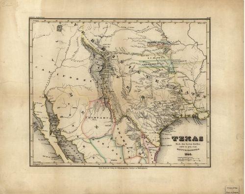 1846 Map Texas - Size: 18x24 - Ready to Frame - Texas | Texas