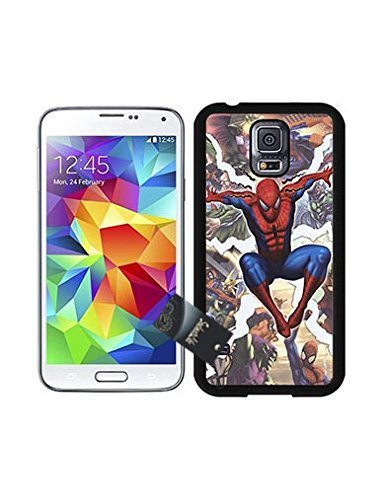 S5 Case, Spiderman Cartoon Style Cute Samsung Galaxy S5 i9600 Case Cover