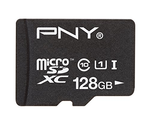 PNY High Performance 128GB High Speed microSDHC Class 10 UHS-1 up to 40MB/sec Flash Memory Card - P-SDUX128U1-GE (OLD (Microsdhc Flash Card Model)