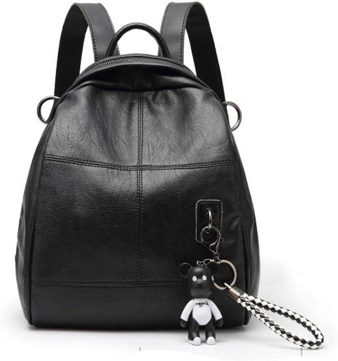 Zxcvlina Women Backpack School Leather Zipper Bags Casual Backpacks Shoulder Bags Water-Resistant Big Business College School Bookba