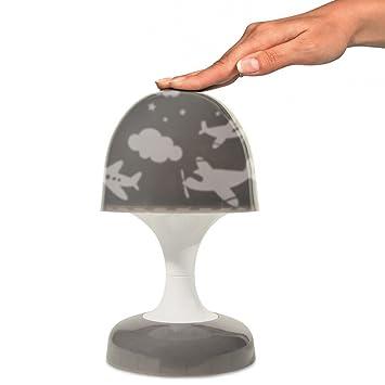 Lampe Veilleuse Tactile Enfant Champignon Led Projection Avion Taupe