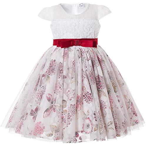 In Estate Cielarko Compleanno Fiori Ragazza Bianco Abiti Rosso Vestiti Per Principessa Pizzo Carnevale Vestito Bambina Elegante wwxUzqCft