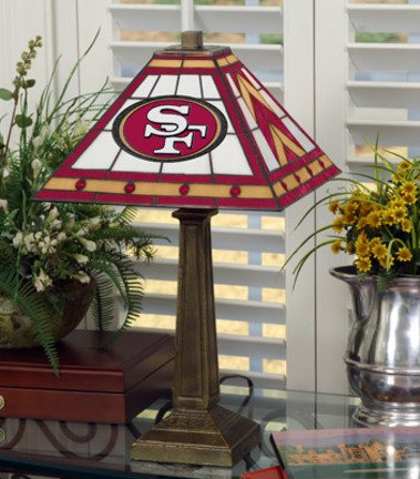 NFL Mission-style Table Lamp, 49ERS by The Memory Company
