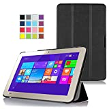 Asuxtek ® Toshiba Encore 2 WT10-A32 /A64 10 inch windows 8.1 tablet ultra-thin Smart Cover Case, ONLY fit Toshiba Encore 2 10(Black)