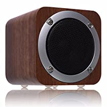 Bluetooth Speaker, ZENBRE F3 Wood Portable Bluetooth 4.0 Speakers with 10h Play Time, 6W Wooden Speaker with Enhanced Bass Resonato for Computer, Laptop