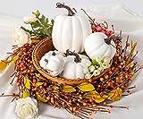 6Pcs Assorted Sizes Artificial Pumpkins Decoration