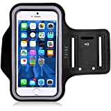 Tribe AB37 Water Resistant Sports Armband with Key Holder for iPhone 6, 6S (4.7-Inch), Galaxy S3/S4, iPhone SE...