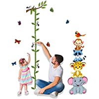 Uelfbaby Animals Height Measurement Wall Decal Home...