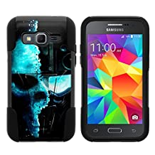 Samsung Core Prime Case, Dual Armor Fusion STRIKE Impact Kickstand Case with Unique Designs for Samsung Galaxy Core Prime G360, Samsung Galaxy Prevail LTE (Verizon, Sprint, Boost Mobile) from MINITURTLE | Includes Clear Screen Protector and Stylus Pen - Demon Cyborg