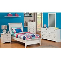Sandberg Furniture 518K Hailey Bedroom Set, Twin