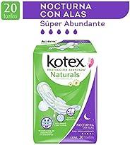 Kotex Naturals Nocturnas Con Alas, 20 Piezas