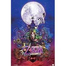 The Legend Of Zelda Majoras Mask Nintendo Fantasy Video Game Series Link Princess Poster - 12x18