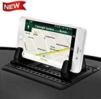 Cell Phone Holder for Car - FITFORT Universal Silicone Anti-Slip Car Phone Mount GPS Holder Mounting in Vehicles Pickup...