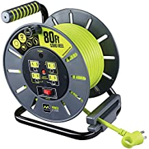 80ft Extension Cord Open Reel with 4 120V 10amp outlets