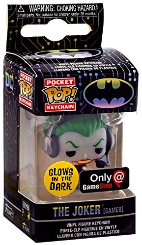 Funko Pocket Pop! - Llavero El Joker (Gamer) Brilla en la Oscuridad Exclus