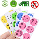 Mosquito Repellent Patches 90 Counts Natural Mosquito Stickers for Kids Children Adults Keeps Insects and Bugs Far Away for Home Camping Travel and Outdoors (90)