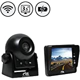Wireless Hitch Camera with Rechargeable Battery by Rear View Safety