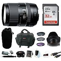Tamron 16-300mm f/3.5-6.3 Di-II VC PZD Macro Lens w/ 32GB SD Card & 3-Piece Filter Bundle