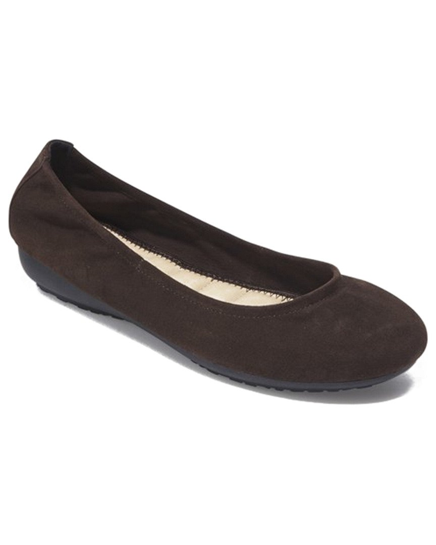 Me Too Janell - Chocolate Suede Elasticized Low Wedge Ballet B074P71M1G 7 B(M) US|Chocolate