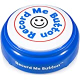 Record Me Button -Blue- Gift a Custom Surprise Message - Record Any 20 Seconds