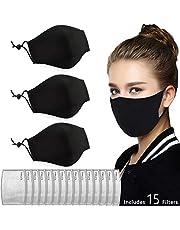 $29 » PM2.5 Màsk – Cotton, Washable, Reusable Cloth Màsk Include Màsk Filter Replacement Set– Protection from Dust, Pollen, Pet Dander, Other Airborne Irritants (3pcs+15pcs)