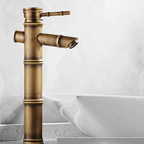 Hlluya Professional Sink Mixer Tap Kitchen Faucet The Antique brass faucet antique bamboo single hole basin mixer basin bench pots of hot and cold faucet 2678