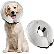 Airsspu Protective Inflatable Dog Collar - Soft Pet Recovery E-Collar Cone for Small Medium Large Dogs, Designed to Prevent Pets From Touching Stitches (Inflatable Dogs Collar-05)